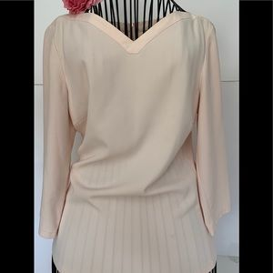 Ted Baker pink blouse zipper on back